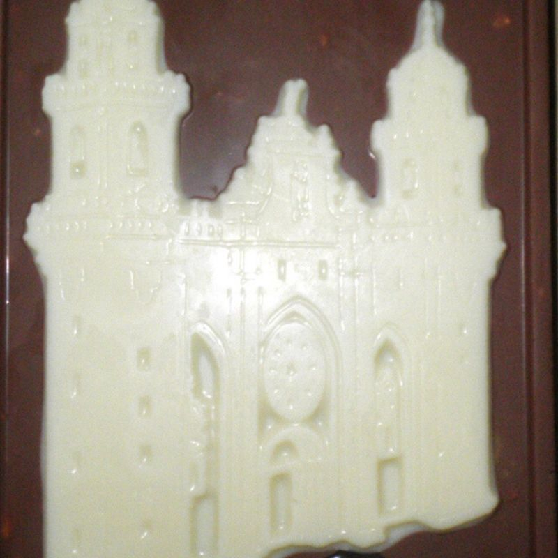 Catedral de Mondoñedo de chocolate